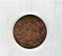 2 CENT COPPER 1870 GOOD DETAIL LO MINTAGE OF 861,250 SHIPS FREE