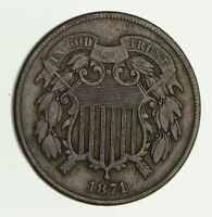1871 TWO-CENT PIECE - CIRCULATED 2804