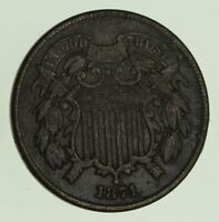 1871 TWO-CENT PIECE - CIRCULATED 8689