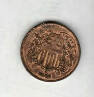 2 CENT COPPER 1864  DETAIL FULL MOTTO SHIPS FREE