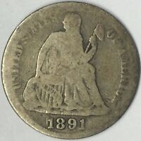 1891-S 10C SEATED LIBERTY DIME G UNCERTIFIED