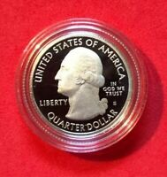 2017 S ELLIS ISLAND DCAM SILVER PROOF   ATB NATIONAL PARKS IN COIN CAPSULE