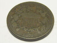 1872 TWO CENT PIECE VG