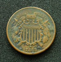 1868 2 CENTS