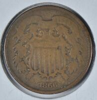 1866 TWO CENT PIECE  GOOD CONDITION 195643