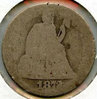 1872 SEATED LIBERTY DIME - AA545