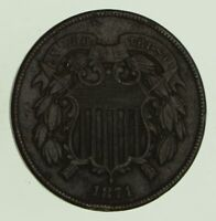 1871 TWO-CENT PIECE - CIRCULATED 8678
