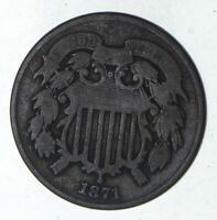 1871 TWO-CENT PIECE - CIRCULATED 9207