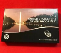 2018 US SILVER PROOF SET ORIGINAL BOX & COA