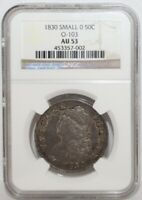 1830 CAPPED BUST HALF DOLLAR, SMALL
