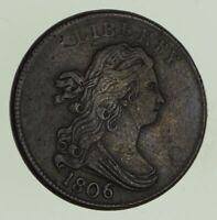 1806 DRAPED BUST HALF CENT - CIRCULATED 7877