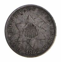 1852 SILVER THREE-CENT PIECE - TRIME - CIRCULATED 9782