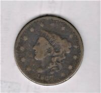 1837 LARGE PENNY GOOD DETAIL SHIPS FREE