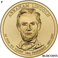 2010 P PRESIDENT ABRAHAM LINCOLN UNCIRCULATED PRESIDENTIAL DOLLAR  10P