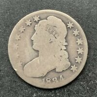 1834 CAPPED BUST HALF DOLLAR EARLY US TYPE SILVER COIN