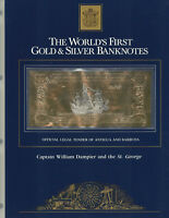 23KT GOLD & SILVER UNC $100 ANTIGUA BANKNOTE- WILLIAM DAMPIER AND THE ST. GEORGE