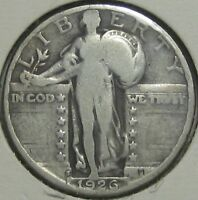 1926-S STANDING LIBERTY SILVER QUARTER,  GOOD  FREE SHIPPPING