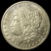 1893-CC MORGAN SILVER DOLLAR SEMI KEY VAM-2 LAST YEAR OF CARSONS M044