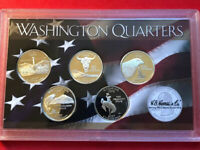 5 SILVER 2010 S PROOF DEEP CAMEO AMERICAN PARK QUARTER SET IN CAPSULES