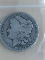 1901-S VAM-11 MORGAN SLANTED DATE SILVER ONE $1 DOLLAR VARIETY COLLECTION COIN