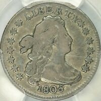 1805 4 BERRIES DRAPED BUST DIME PCGS VF20
