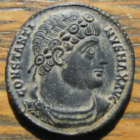 CHOICE CONSTANTINE THE GREAT GLORIA EXERCITVS AE 3 FROM ANTIOCH