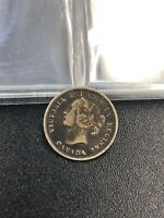 OLD CANADIAN COIN 1888   5 CENTS   .925 SILVER   VICTORIA