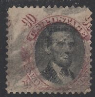 TDSTAMPS: US STAMPS SCOTT122 90C USED LIGHTLY CREASE TINY TE