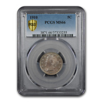1910 LIBERTY HEAD V NICKEL MINT STATE 66 PCGS - SKU194795