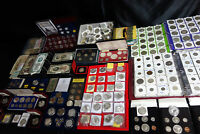 WORLD COIN COLLECTION LOT 45 POUNDS LOTS OF SILVER