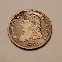 1831 CAPPED BUST HALF DIME H10C 5 CENTS -  OLD COIN, SHIPS FREE