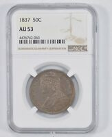 AU53 1837 CAPPED BUST HALF DOLLAR - NGC GRADED 1766