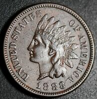 1883 INDIAN HEAD CENT - WITH LIBERTY - NEAR EXTRA FINE  EF