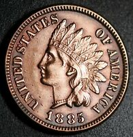 1885 INDIAN HEAD CENT WITH LIBERTY & DIAMONDS - EXTRA FINE  EF