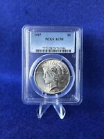 1927  PEACE SILVER DOLLAR $1 PCGS AU58 CHOICE ABOUT UNCIRCULATED