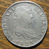 HIGH GRADE 1821 R G 8 REALES FROM THE ZACATECAS MINT