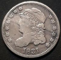 1831 5C CAPPED BUST HALF DIME VG