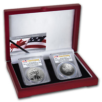 2019 RCM PRIDE OF TWO NATIONS 2 COIN SET PR 70 PCGS  FS    SKU195547