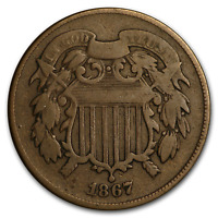 1867 TWO CENT PIECE VG DOUBLED DIE - SKU195763