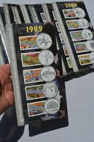 LOT OF 10 1999 TO 2008 50 STATE QUARTERS GREETINGS FROM AMER