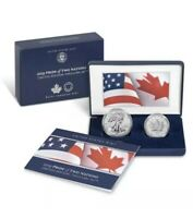 IN STOCK 2019 PRIDE OF TWO NATIONS LIMITED EDITION TWO COIN SET FROM US MINT