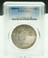 1884-O PCGS MINT STATE 64 MORGAN SILVER ONE DOLLAR $1  COIN