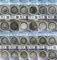 1892 1915 S 100  COMPLETE BARBER HALF DOLLAR SET PCGS GRADED 50 REDUCED GREATLY