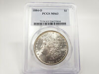 1884-O PCGS MINT STATE 63 MORGAN SILVER DOLLAR GREAT EYE APPEAL ESTATE FIND 625904