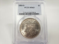 1884-O PCGS MINT STATE 63 MORGAN SILVER DOLLAR GREAT EYE APPEAL ESTATE FIND 639834
