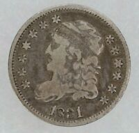 1831 CAPPED BUST HALF DIME H10C SILVER VF  FINE 9660