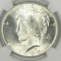 1  BU $1 1925 PEACE SILVER DOLLARS DRIPPING WITH LUSTER UNC MS 90  BULK & SAVE