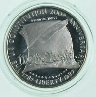 PROOF 1987 S US CONSTITUTION BICENTENNIAL   COMMEMORATIVE 90  SILVER DOLLAR