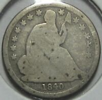 1840-0 SEATED LIBERTY SILVER DIME   SHIPS FREE