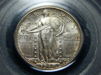 1917-S 25C TYPE 1 STANDING LIBERTY QUARTER MINT STATE 66FH PCGS/CAC, LOOKS EVEN HIGHER